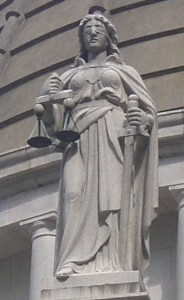 Lady Justice at The Legislative Council Building