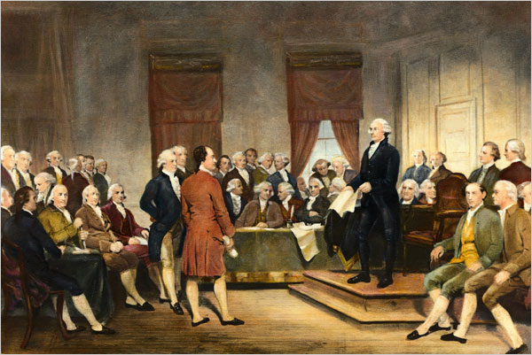 George Washington Addressing the Constitutional Convention