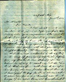 Lizzie Pierce Letter - Page 1