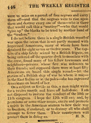 Page 2 of Article on French Impress of American Seamen