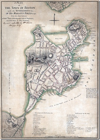Map of Boston c. 1775