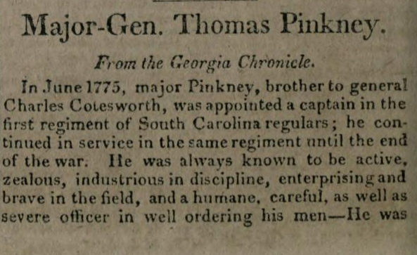 Thomas Pinckney part 1