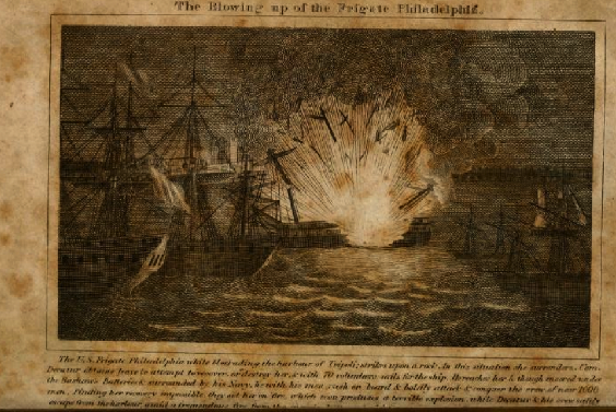 Destruction of USS Philadelphia