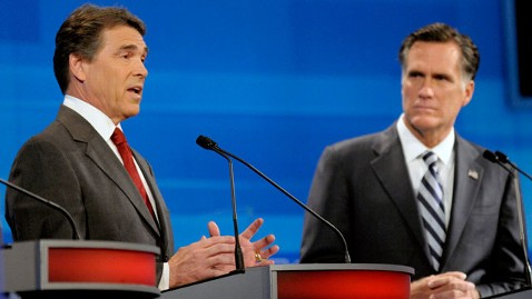 Rick Perry and Mitt Romney Sparring
