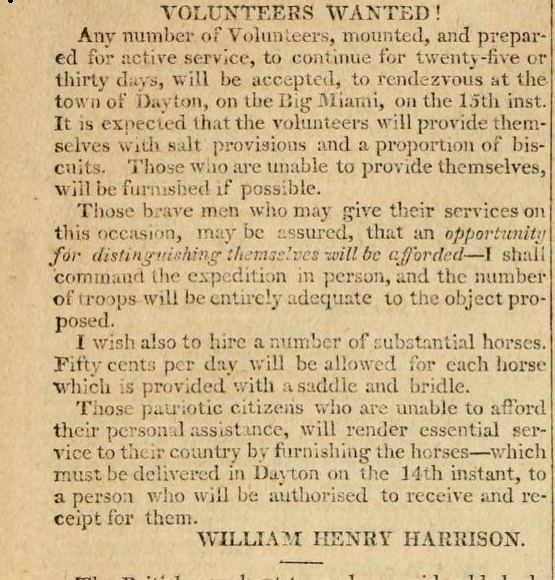 Harrison recruiting volunteers