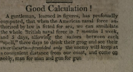Calculation on The War of 1812