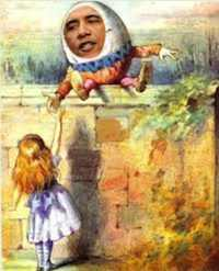 Obama as Humpty Dumpty