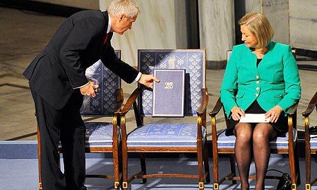 Empty Chair Accepting Nobel Prize