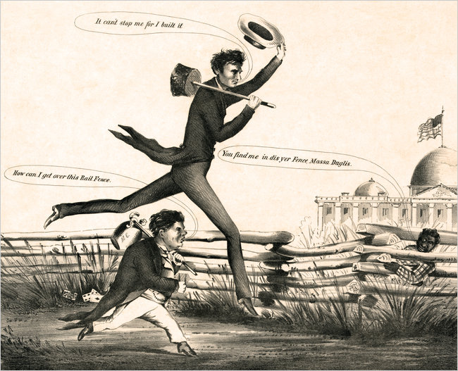 Disunion Cartoon - Douglas and Lincoln