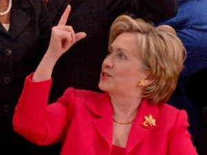Hillary-PointingUp